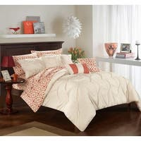 Chic Home 10-Piece Fedel Beige BIB Comforter Set