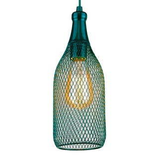 Free-collocational mesh enclosure pendent light in turquoise (Bonus LED bulb is included until 10/31/2016) https://ak1.ostkcdn.com/images/products/12751407/P19527986.jpg?impolicy=medium
