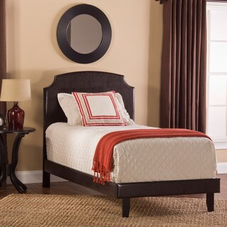 Hillsdale Lawler Brown Faux Leather Upholstered Bed