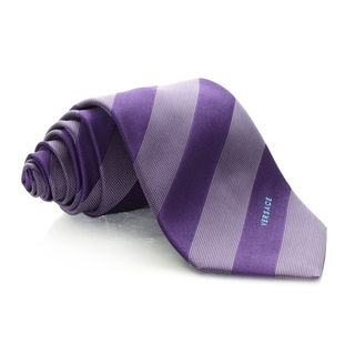 Versace Purple Uniform Stripe Tie