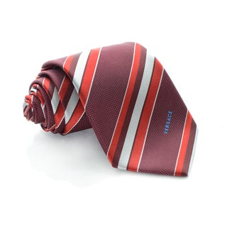 Versace Red Stripes Tie