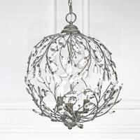 20-inch Hanging Garden Glam Pendant Lamp - Silver