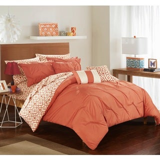 chic home 10piece fedel brick bib comforter set