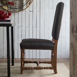 Alba Black Polyester/Foam/Wood 21.5-inch x 20.5-inch x 43-inch Accent Chair