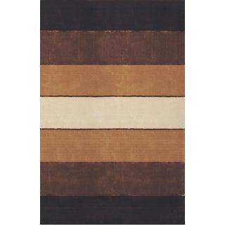 Hand-tufted Eco Brown Wool Rug (3'6 x 5'6)