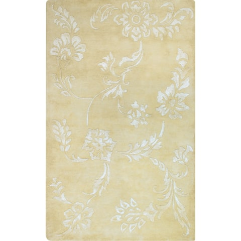 Hand-tufted Fresco Cream Wool Rug (3'6 x 5'6)