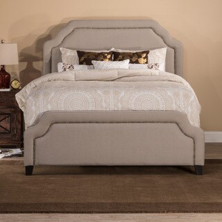 HIllsdale Furniture Caryle Taupe Fabric Upholstered Bed