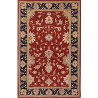 Hand-tufted Noble Burgundy Wool Rug (3'6 x 5'6)