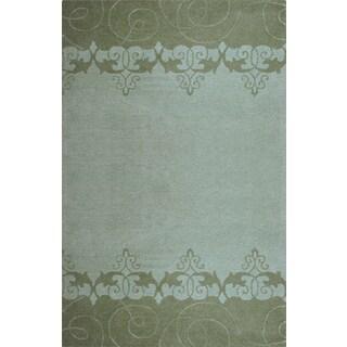 Hand-tufted Lotus Mist Wool Rug (3'6 x 5'6)