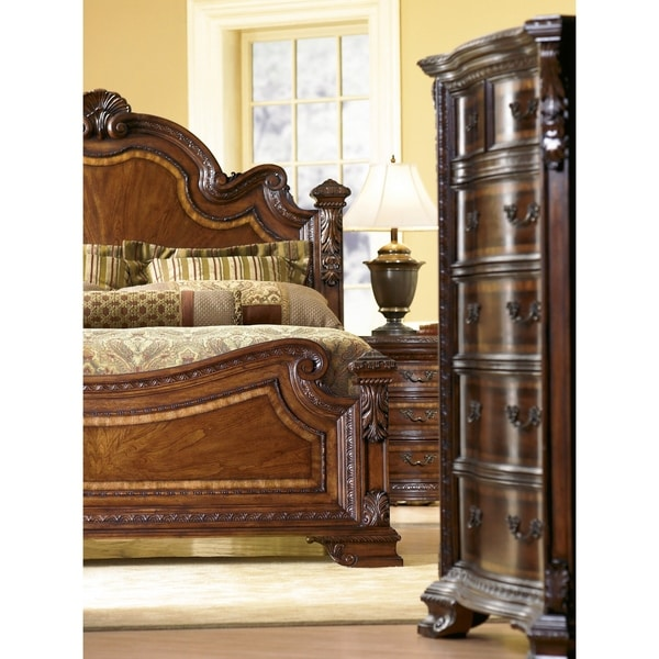A.R.T. Furniture Old World Pomegranate King Estate Bed