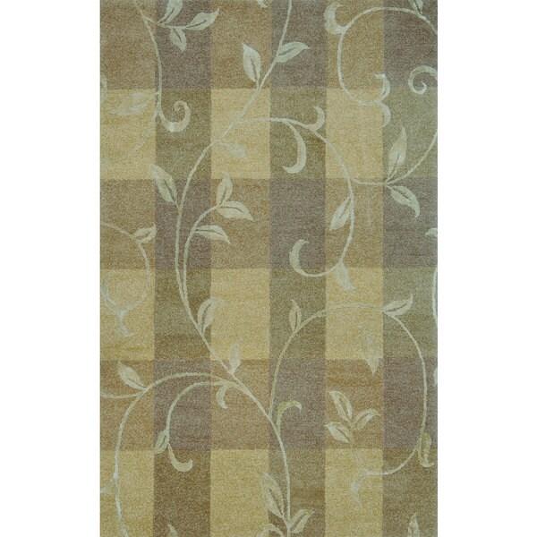 Hand-tufted Lotus Neutral Wool Rug (3'6 x 5'6)