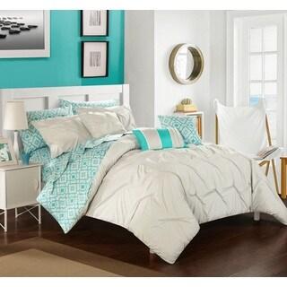 Chic Home 10-Piece Fedel Grey BIB Comforter Set