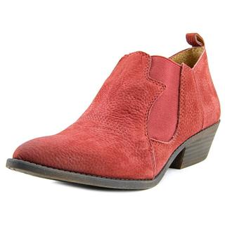 Lucky Brand Women's Joelle Red Nubuck Boots