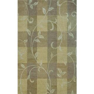 Hand-tufted Lotus Neutral Wool Rug (5' x 8')