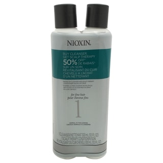 Nioxin 10.1-ounce System 1 Cleanser & Scalp Therapy Conditioner Duo