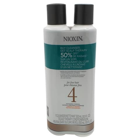 Nioxin 10.1-ounce System 4 Cleanser & Scalp Therapy Conditioner Duo