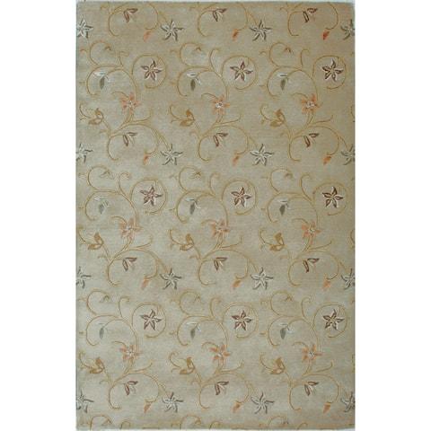 Hand-tufted Fresco Wool Rug (9'6 x 13') - 9'6 x 13'