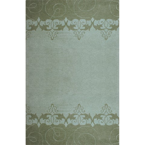 Hand-tufted Lotus Mist Wool Rug (8' x 11')