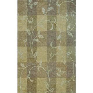 Hand-tufted Lotus Neutral Wool Rug (8' x 11')