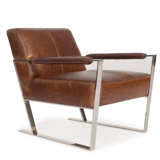 Uno Top-grain Full Leather Arm Chair