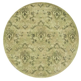 Hand-tufted Dune Neutral Wool Rug Round (6' x 6')