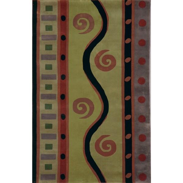 Hand-tufted Regal Spring Wool Rug (7'9 x 7'9) - multi