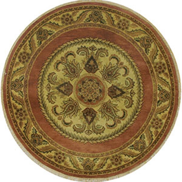 Hand-tufted Majestic Wool Rug Round (6' x 6')