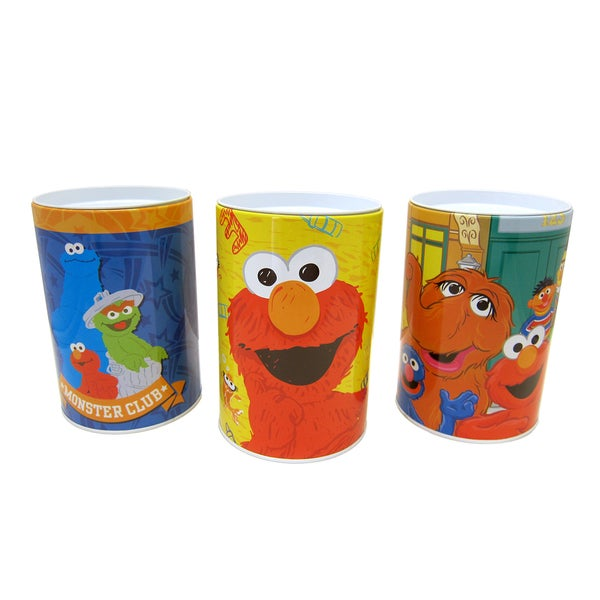 Sesame Street Flat Top Coin Banks (Pack of 3)