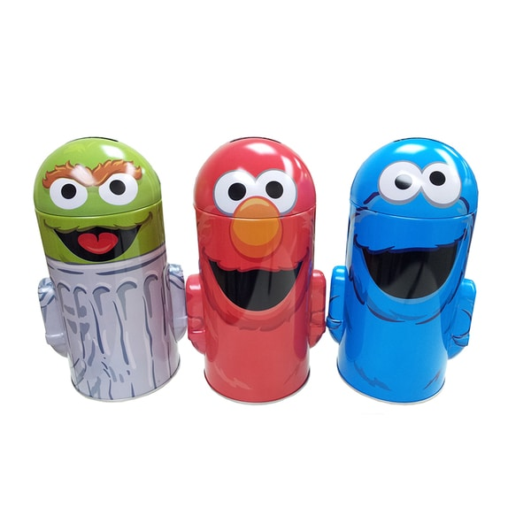 Sesame Street Molded Top Coin Bank 3-pack