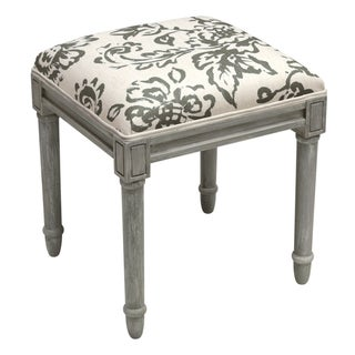 123 Creations Toile Rustic-grey Vanity Stool (Grey)