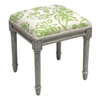 123 Creations Toile Rustic-grey Vanity Stool (Green)