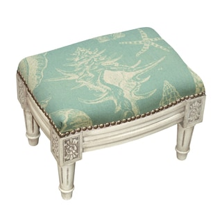 Seashells Nail-head Trim Footstool