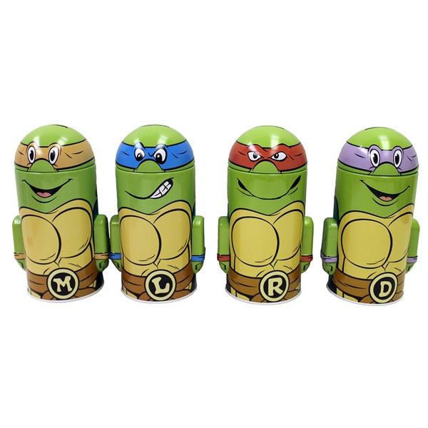 Teenage Mutant Ninja Turtles Molded Coin Bank (Pack of 4)
