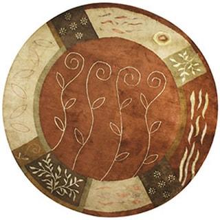 Hand-tufted Sahara Wool Rug Round (8' x 8')