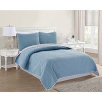 Home Fashion Designs Bedford Collection 3-Piece Luxury Quilt Set with Shams