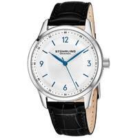 Stuhrling Original Men's Swiss Quartz Classique Black Leather Strap Watch