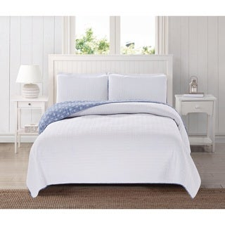 Home Fashion Designs Avignon Collection 3-Piece Luxury Quilt Set with Shams