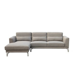 Clarinda Sand Fabric Left-facing Sectional Sofa
