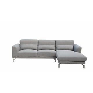 Xena Light Grey Modern Sectional Sofa Set Free Shipping