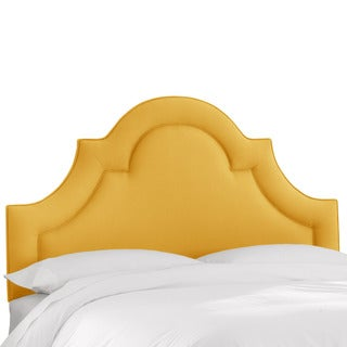 Skyline Furniture Linen French Yellow Arched Border Headboard