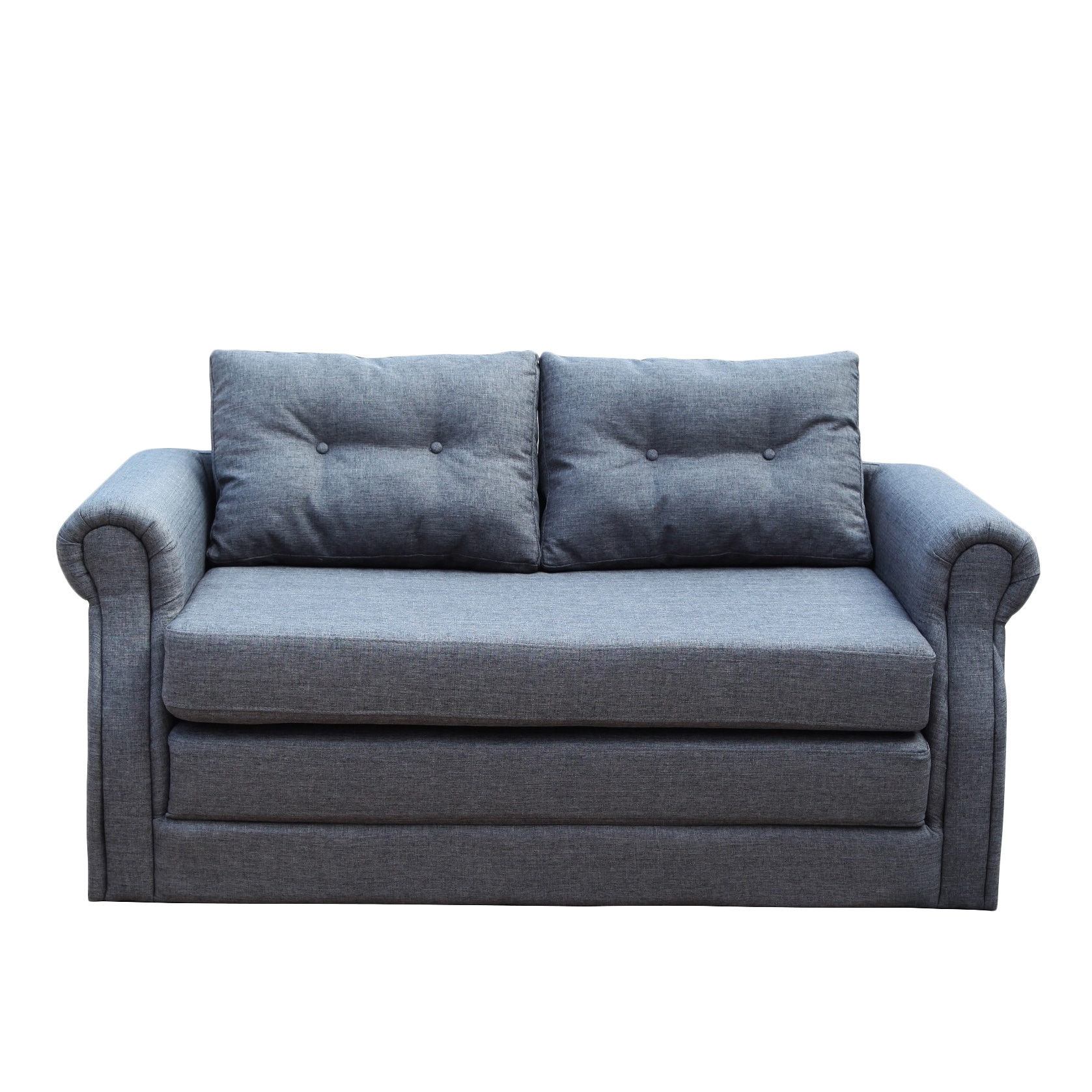 Lucca Dark Grey Convertible Loveseat Sleeper