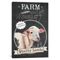 iCanvas Chalkboard Series: Quality Lambs by Jennifer Redstreake Canvas Print