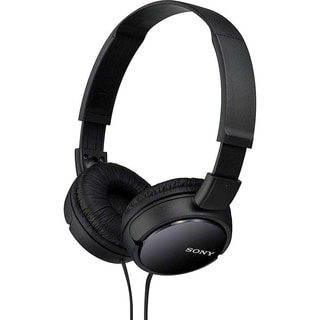 Sony Black Lightweight Foldable High-quality Sound Over-the-ear Headphones