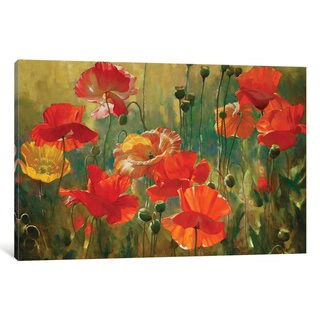 iCanvas Poppy Fields by Emma Styles Canvas Print