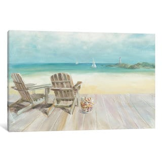 iCanvas Seaside Morning No Window by Danhui Nai Canvas Print