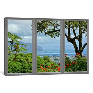 iCanvas Hawaii Window View by iCanvas Canvas Print