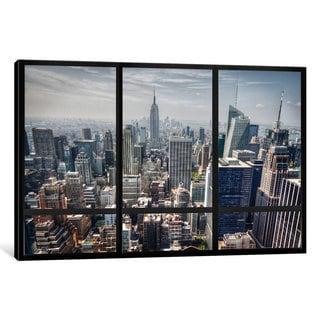 iCanvas New York City Skyline Window View by iCanvas Canvas Print