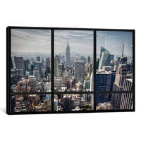 iCanvas New York City Skyline Window View by iCanvas Canvas Print