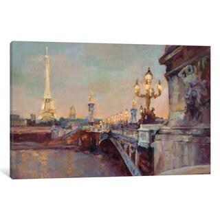 iCanvas Parisian Evening Crop by Marilyn Hageman Canvas Print