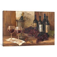 iCanvas Vintage Wine by Albena Hristova Canvas Print